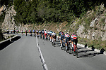 The breakaway climb the Cote de Duranas during Stage 8 of Paris-Nice 2021, running 92.7km from Le Plan-du-Var to Levens, France. 14th March 2021.<br /> Picture: ASO/Fabien Boukla | Cyclefile<br /> <br /> All photos usage must carry mandatory copyright credit (© Cyclefile | ASO/Fabien Boukla)