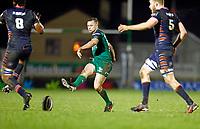 13th March 2021; Galway Sportsgrounds, Galway, Connacht, Ireland; Guinness Pro 14 Rugby, Connacht versus Edinburgh; Jack Carty kicks a through ball for Connacht