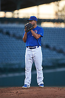 AZL Cubs 1 relief pitcher Pablo Ochoa (43) during an Arizona League game against the AZL Angels on June 24, 2019 at Sloan Park in Mesa, Arizona. AZL Cubs 1 defeated the AZL Angels 12-0. (Zachary Lucy / Four Seam Images)