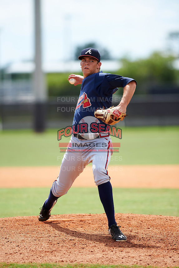 Atlanta Braves pitcher Jeremy Walker (61) during an Instructional League game against the Houston Astros on September 26, 2016 at Osceola County Stadium Complex in Kissimmee, Florida.  (Mike Janes/Four Seam Images)