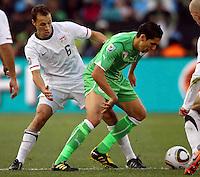 Steve Cherundolo of USA. USA defeated Algeria 1-0 in stoppage time in the 2010 FIFA World Cup at Loftus Versfeld Stadium in Pretoria, Sourth Africa, on June 23th, 2010.