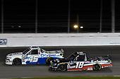 #45: Ross Chastain, Niece Motorsports, Chevrolet Silverado TruNorth/Paul Jr. Designs, #18: Harrison Burton, Kyle Busch Motorsports, Toyota Tundra Safelite AutoGlass