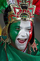 Fans of Mexico in the stands before the game against France