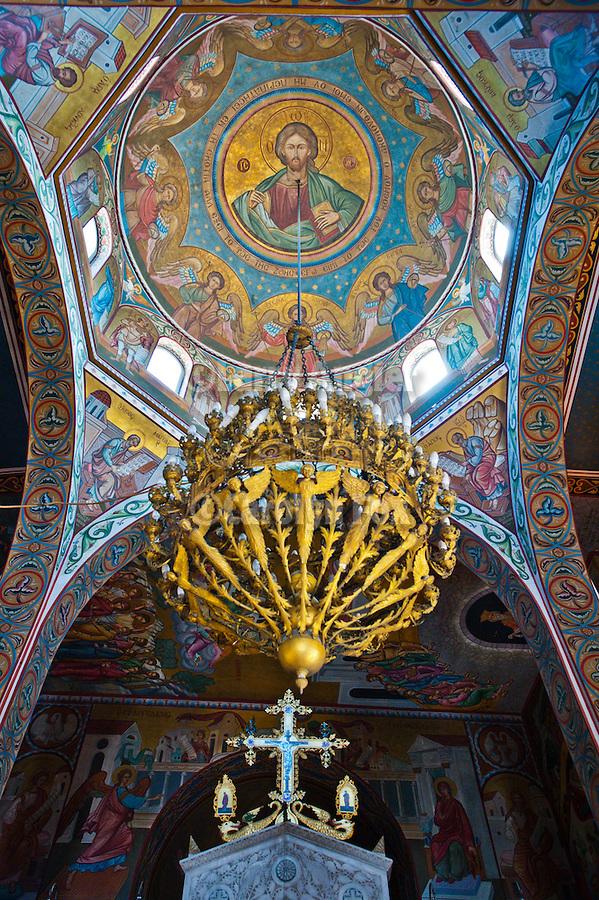 Interior fo the Church of the Life Giving Spring (Zoodochos Pigi), Naoussa, Greece.