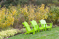 Adirondack Chairs in Fall