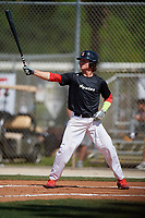 Chase Krogman during the WWBA World Championship at the Roger Dean Complex on October 19, 2018 in Jupiter, Florida.  Chase Krogman is an outfielder from Dardenne Prairie, Missouri who attends Wentzville Liberty High School and is committed to Missouri State.  (Mike Janes/Four Seam Images)