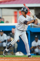 Bristol shortstop Hancer Vargas (38) at bat versus Burlington at Burlington Athletic Park in Burlington, NC, Thursday, July 12, 2007.