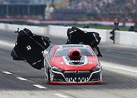 Apr 26, 2015; Baytown, TX, USA; NHRA pro stock driver V. Gaines during the Spring Nationals at Royal Purple Raceway. Mandatory Credit: Mark J. Rebilas-