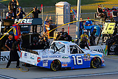 NASCAR Camping World Truck Series<br /> M&M's 200 presented by Casey's General Store<br /> Iowa Speedway, Newton, IA USA<br /> Friday 23 June 2017<br /> Ryan Truex, Albertsons/Safeway Bar Harbor Foods Toyota Tundra pit stop<br /> World Copyright: Russell LaBounty<br /> LAT Images