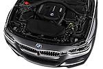 Car Stock 2018 BMW 3-Series 330i-Sports-Wagon 5 Door Wagon Engine  high angle detail view