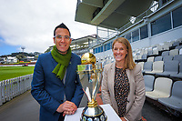 2022 Women's Cricket World Cup tournament venues presser at the Basin Reserve in Wellington, New Zealand on Tuesday, 17 November 2020. Organisers for the 2022 Women's Cricket World Cup are welcoming a $2 million funding boost that will go towards upgrading player facilities at the five New Zealand venues for the tournament. Photo: Dave Lintott / lintottphoto.co.nz