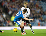 Rangers v St Johnstone...22.09.15  Scottish League Cup Round 3, Ibrox Stadium<br /> David Wotherspoon is closed down by Danny Wilson<br /> Picture by Graeme Hart.<br /> Copyright Perthshire Picture Agency<br /> Tel: 01738 623350  Mobile: 07990 594431