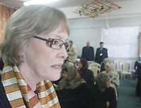 "Karen Abu Zeid General Coordinator of the United Nations in the Palestinian territories at a meeting on women's violence against women in Alshataa  refugee camp in the Gaza Strip November 25, 2007.""photo by Fady Adwan"""