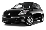 Stock pictures of low aggressive front three quarter view of2013 Suzuki SWIFT Grand Luxe @ttraction 5 Door Hatchback 2WD Low Aggressive