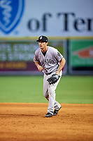 Jackson Generals first baseman Josh Prince (8) during a game against the Chattanooga Lookouts on May 9, 2018 at AT&T Field in Chattanooga, Tennessee.  Chattanooga defeated Jackson 4-2.  (Mike Janes/Four Seam Images)