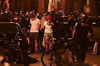 Washington, DC - June 1, 2020: D.C. Metropolitan Police arrest dozens of people as protesters gathered at 15th & Swann St. NW, Washington, DC  June 1, 2020, in the wake of the death of George Floyd by a Minnesota police officer.  (Photo by Don Baxter/Media Images International)