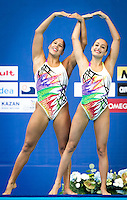 Venezuela VEN<br /> CARRILLO Oriana VEN<br /> GOMEZ Greisy VEN<br /> CHO Man Yee Nora HKG<br /> LAU Michelle Hoi Ting HKG<br /> Duet Technical Preliminary<br /> Day3 26/07/2015<br /> XVI FINA World Championships Aquatics<br /> Synchro<br /> Kazan Tatarstan RUS July 24 - Aug. 9 2015 <br /> Photo Pasquale Mesiano/Deepbluemedia/Insidefoto