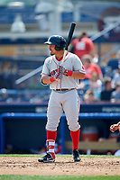 Portland Sea Dogs right fielder Luke Tendler (10) at bat during the first game of a doubleheader against the Reading Fightin Phils on May 15, 2018 at FirstEnergy Stadium in Reading, Pennsylvania.  Portland defeated Reading 8-4.  (Mike Janes/Four Seam Images)