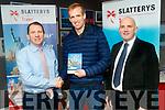 Kerry's Eye/Slatterys Travel €1,500 Holiday Winner Liam O'Sullivan, Listowel pictures with David Slattery, Slatterys Travel and Brendan Kennelly, Kerry's Eye.