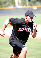 Roger Kieschnick / San Francisco Giants working out at Instructional League, Scottsdale, AZ - 09/18/2008..Photo by:  Bill Mitchell/Four Seam Images
