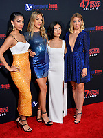 "LOS ANGELES, USA. August 14, 2019: Corinne Foxx, Sistine Stallone, Brianne Tju & Sophie Nelisse at the premiere of ""47 Meters Down: Uncaged"" at the Regency Village Theatre.<br /> Picture: Paul Smith/Featureflash"