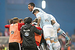 Celta de Vigo's Gustavo Cabral and Pablo Hernandez celebrates goal during Spanish Kings Cup match. January 27,2016. (ALTEPHOTOS/Acero)