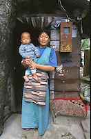 Dolka, Tibetan woman, and her baby.