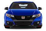 Car photography straight front view of a 2015 Honda Civic Type-R 5 Door Hatchback Front View