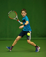 Almere, Netherlands, December 6, 2015, Winter Youth Circuit, Michael Schut (NED)<br /> Photo: Tennisimages/Henk Koster