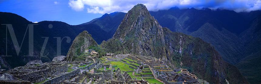 Panoramic of Machu Picchu ruins, Peru