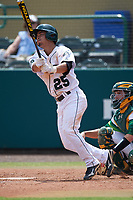 Dartmouth Big Green shortstop Justin Fowler (25) at bat during a game against the South Florida Bulls on March 27, 2016 at USF Baseball Stadium in Tampa, Florida.  South Florida defeated Dartmouth 4-0.  (Mike Janes/Four Seam Images)