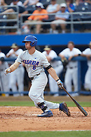 in the completion of Game Two of the Gainesville Super Regional of the 2017 College World Series at Alfred McKethan Stadium at Perry Field on June 12, 2017 in Gainesville, Florida. The Demon Deacons walked off the Gators 8-6 in 11 innings. (Brian Westerholt/Four Seam Images)