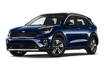 Stock pictures of low aggressive front three quarter view of 2020 KIA Niro-Plug-In-Hybrid EX-Premium 5 Door Hatchback Low Aggressive