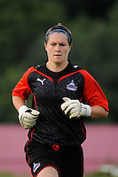 Washington Freedom goalkeeper Erin McLeod (18). Sky Blue FC and the Washington Freedom played to a 4-4 tie during a Women's Professional Soccer match at Yurcak Field in Piscataway, NJ, on July 15, 2009.