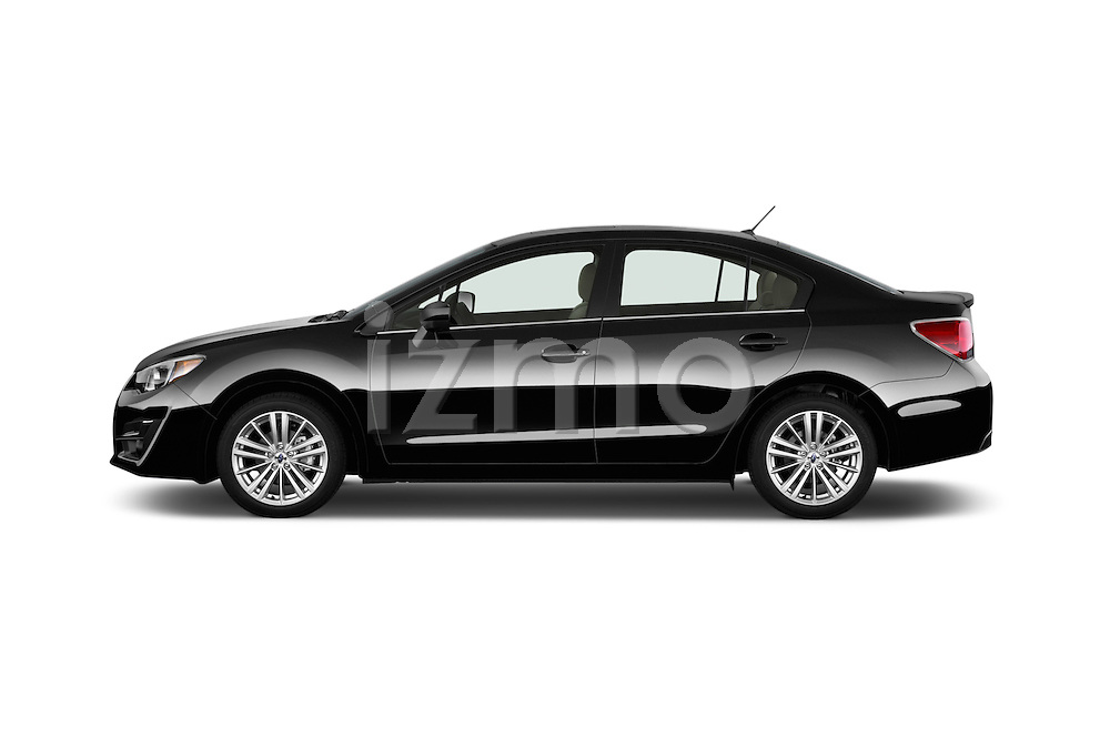 Car Driver side profile view of a 2015 Subaru Impreza 2.0I Premium Auto 4 Door Sedan Side View