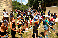 Students part of the Taylor Allderdice High School Black Student Union organized a protest as part of the Black Lives Matter movement on Thursday June 11, 2020 in Pittsburgh, Pennsylvania. (Photo by Jared Wickerham/Pittsburgh City Paper)