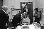 Hungerford Hocktide. Hungerford, Berkshire, England. 1976 Tuttimen, kiss girls in exchange fro an orange.