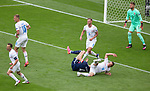 14.06.2021 Scotland v Czech Republic:  Scott McTominay down in the box at the end of the first half
