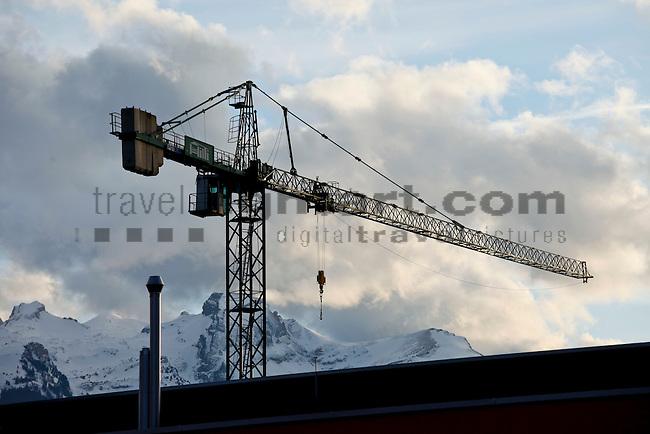 Kran, derrick, Eschen, Liechtenstein