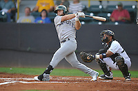 Beloit Snappers Ryan Howell (21) swings during the Midwest League game against the Clinton LumberKings at Ashford University Field on June 11, 2016 in Clinton, Iowa.  The LumberKings won 7-6.  (Dennis Hubbard/Four Seam Images)