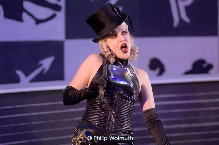 Lorina Gore in a performance of Arabella, by Richard Strauss, at Garsington Manor, Oxfordshire.