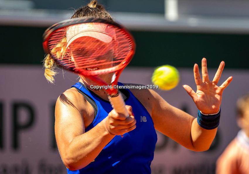 Paris, France, 1 june, 2019, Tennis, French Open, Roland Garros, Joniors, Julie Belgraver (FRA)<br /> Photo: Henk Koster/tennisimages.com