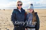 Gillian and Caoimhe Dowling enjoying a stroll on Banna beach on New Years Day.