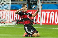 Miroslav Klose of Germany celebrates scoring a goal after making it 0-2