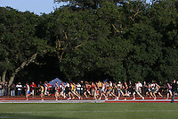 4 May 2008: Stanford Cardinal Brendan Gregg (486) and Jake Riley (507) during Stanford's Payton Jordan Cardinal Invitational at Cobb Track & Angell Field in Stanford, CA.