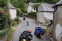 race leader and eventual stage winner Patrick Konrad (AUT/BORA - hansgrohe) up the Col de Portet-d'Aspet<br /> <br /> Stage 16 from El Pas de la Casa to Saint-Gaudens (169km)<br /> 108th Tour de France 2021 (2.UWT)<br /> <br /> ©kramon