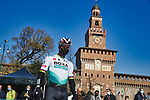 Peter Sagan (SVK) Bora-Hansgrohe at sign on before the start of the 1123th edition of Milan-San Remo 2021, running 299km from Milan to San Remo, Italy. 20th March 2021. <br /> Photo: Bora-Hansgrohe/Luca Bettini/BettiniPhoto | Cyclefile<br /> <br /> All photos usage must carry mandatory copyright credit (© Cyclefile | Luca Bettini/BettiniPhoto/Bora-Hansgrohe)