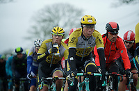 Sep Vanmarcke (BEL/LottoNL-Jumbo) always at the front of the peloton<br /> <br /> 77th Gent-Wevelgem 2015