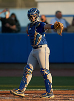 Jesuit Tigers catcher Cole Russo (22) during a game against the IMG Academy Ascenders on April 21, 2021 at IMG Academy in Bradenton, Florida.  (Mike Janes/Four Seam Images)