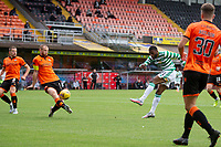 22nd August 2020; Tannadice Park, Dundee, Scotland; Scottish Premiership Football, Dundee United versus Celtic; Mark Connolly of Dundee United blocks a shot from Olivier Ntcham of Celtic
